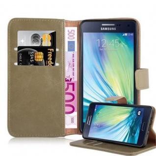 Cadorabo Hülle für Samsung Galaxy A5 2015 in CAPPUCINO BRAUN - Handyhülle mit Magnetverschluss, Standfunktion und Kartenfach - Case Cover Schutzhülle Etui Tasche Book Klapp Style