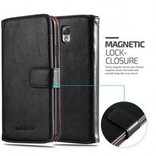 Cadorabo Hülle für Samsung Galaxy NOTE 3 in GRAPHIT SCHWARZ ? Handyhülle mit Magnetverschluss, Standfunktion und Kartenfach ? Case Cover Schutzhülle Etui Tasche Book Klapp Style - Vorschau 2