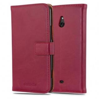 Cadorabo Hülle für Nokia Lumia 1320 in WEIN ROT - Handyhülle mit Magnetverschluss, Standfunktion und Kartenfach - Case Cover Schutzhülle Etui Tasche Book Klapp Style