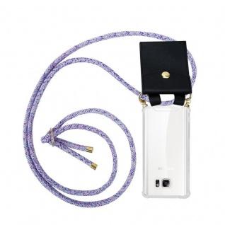 Cadorabo Handy Kette für Samsung Galaxy NOTE 5 in UNICORN - Silikon Necklace Umhänge Hülle mit Gold Ringen, Kordel Band Schnur und abnehmbarem Etui ? Schutzhülle