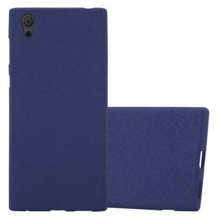 Cadorabo Hülle für Sony Xperia L1 in FROST DUNKEL BLAU - Handyhülle aus flexiblem TPU Silikon - Silikonhülle Schutzhülle Ultra Slim Soft Back Cover Case Bumper