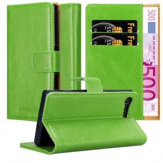 Cadorabo Hülle für Sony Xperia X Compact in GRAS GRÜN ? Handyhülle mit Magnetverschluss, Standfunktion und Kartenfach ? Case Cover Schutzhülle Etui Tasche Book Klapp Style