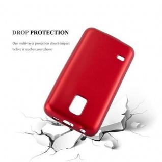 Cadorabo Hülle für Samsung Galaxy S5 MINI / S5 MINI DUOS in METALLIC ROT - Handyhülle aus flexiblem TPU Silikon - Silikonhülle Schutzhülle Ultra Slim Soft Back Cover Case Bumper - Vorschau 3