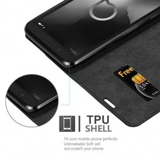 Cadorabo Hülle für Alcatel 1C 2019 in NACHT SCHWARZ - Handyhülle mit Magnetverschluss, Standfunktion und Kartenfach - Case Cover Schutzhülle Etui Tasche Book Klapp Style - Vorschau 4