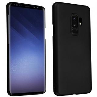 Cadorabo Hülle für Samsung Galaxy S9 PLUS in METALL SCHWARZ - Hardcase Handyhülle aus Plastik gegen Kratzer und Stöße - Schutzhülle Bumper Ultra Slim Back Case Hard Cover