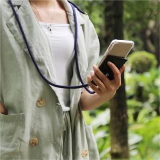 Cadorabo Handy Kette für Apple iPhone 6 PLUS / iPhone 6S PLUS in TIEF BLAU - Silikon Necklace Umhänge Hülle mit Silber Ringen, Kordel Band Schnur und abnehmbarem Etui - Schutzhülle - Vorschau 3