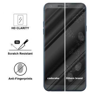Cadorabo Panzer Folie für LG Q7+ - Schutzfolie in KRISTALL KLAR - Gehärtetes (Tempered) Display-Schutzglas in 9H Härte mit 3D Touch Kompatibilität - Vorschau 3