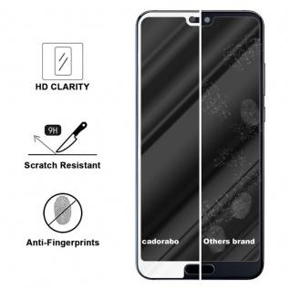 Cadorabo Vollbild Panzer Folie für Huawei MATE 20 LITE - Schutzfolie in TRANSPARENT mit WEISS - Gehärtetes (Tempered) Display-Schutzglas in 9H Härte mit 3D Touch Kompatibilität - Vorschau 2