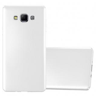 Cadorabo Hülle für Samsung Galaxy A7 2015 in METALL SILBER ? Hardcase Handyhülle aus Plastik gegen Kratzer und Stöße ? Schutzhülle Bumper Ultra Slim Back Case Hard Cover