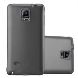 Cadorabo Hülle für Samsung Galaxy NOTE 4 in METALLIC GRAU - Handyhülle aus flexiblem TPU Silikon - Silikonhülle Schutzhülle Ultra Slim Soft Back Cover Case Bumper