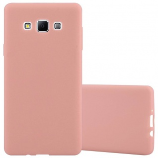 Cadorabo Hülle für Samsung Galaxy A7 2015 in CANDY ROSA - Handyhülle aus flexiblem TPU Silikon - Silikonhülle Schutzhülle Ultra Slim Soft Back Cover Case Bumper