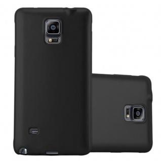 Cadorabo Hülle für Samsung Galaxy NOTE 4 in METALLIC SCHWARZ - Handyhülle aus flexiblem TPU Silikon - Silikonhülle Schutzhülle Ultra Slim Soft Back Cover Case Bumper