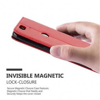 Cadorabo Hülle für Huawei NEXUS 6P in APFEL ROT Handyhülle mit Magnetverschluss, Standfunktion und Kartenfach Case Cover Schutzhülle Etui Tasche Book Klapp Style - Vorschau 4