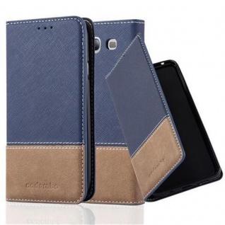 Cadorabo Hülle für Samsung Galaxy S3 / S3 NEO in DUNKEL BLAU BRAUN ? Handyhülle mit Magnetverschluss, Standfunktion und Kartenfach ? Case Cover Schutzhülle Etui Tasche Book Klapp Style