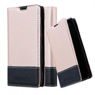 Cadorabo Hülle für Nokia Lumia 520 in ROSÉ GOLD SCHWARZ ? Handyhülle mit Magnetverschluss, Standfunktion und Kartenfach ? Case Cover Schutzhülle Etui Tasche Book Klapp Style