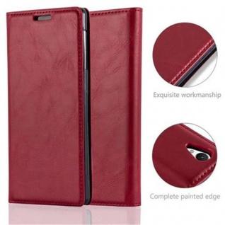Cadorabo Hülle für Sony Xperia Z1 in APFEL ROT Handyhülle mit Magnetverschluss, Standfunktion und Kartenfach Case Cover Schutzhülle Etui Tasche Book Klapp Style - Vorschau 2