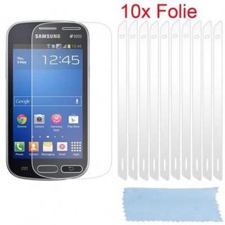 Cadorabo Displayschutzfolien für Samsung Galaxy TREND LITE - Schutzfolien in HIGH CLEAR - 10 Stück hochtransparenter Schutzfolien gegen Staub, Schmutz und Kratzer