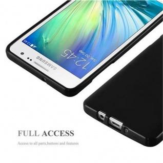 Cadorabo Hülle für Samsung Galaxy A5 2015 in JELLY SCHWARZ ? Handyhülle aus flexiblem TPU Silikon ? Silikonhülle Schutzhülle Ultra Slim Soft Back Cover Case Bumper - Vorschau 5