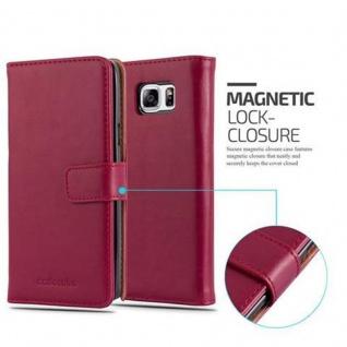 Cadorabo Hülle für Samsung Galaxy NOTE 5 in WEIN ROT ? Handyhülle mit Magnetverschluss, Standfunktion und Kartenfach ? Case Cover Schutzhülle Etui Tasche Book Klapp Style - Vorschau 2