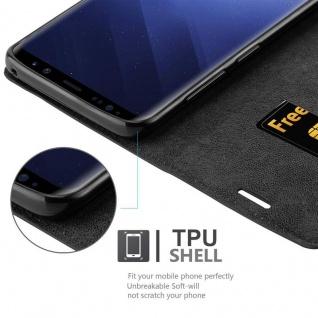 Cadorabo Hülle für Samsung Galaxy S9 PLUS in NACHT SCHWARZ - Handyhülle mit Magnetverschluss, Standfunktion und Kartenfach - Case Cover Schutzhülle Etui Tasche Book Klapp Style - Vorschau 3