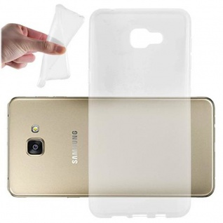 Cadorabo Hülle für Samsung Galaxy A9 2015 in VOLL TRANSPARENT - Handyhülle aus flexiblem TPU Silikon - Silikonhülle Schutzhülle Ultra Slim Soft Back Cover Case Bumper