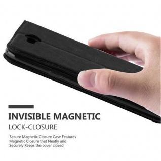 Cadorabo Hülle für LG X POWER 2 in NACHT SCHWARZ - Handyhülle mit Magnetverschluss, Standfunktion und Kartenfach - Case Cover Schutzhülle Etui Tasche Book Klapp Style - Vorschau 5