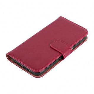 Cadorabo Hülle für Samsung Galaxy S7 in WEIN ROT ? Handyhülle mit Magnetverschluss, Standfunktion und Kartenfach ? Case Cover Schutzhülle Etui Tasche Book Klapp Style - Vorschau 3