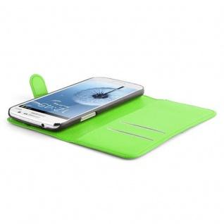 Cadorabo Hülle für Samsung Galaxy GRAND 2 in MINZ GRÜN - Handyhülle mit Magnetverschluss, Standfunktion und Kartenfach - Case Cover Schutzhülle Etui Tasche Book Klapp Style - Vorschau 3
