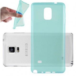 Cadorabo Hülle für Samsung Galaxy NOTE 4 in TRANSPARENT BLAU - Handyhülle aus flexiblem TPU Silikon - Silikonhülle Schutzhülle Ultra Slim Soft Back Cover Case Bumper