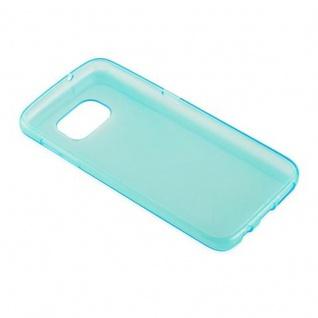 Cadorabo Hülle für Samsung Galaxy S7 in TRANSPARENT BLAU - Handyhülle aus flexiblem TPU Silikon - Silikonhülle Schutzhülle Ultra Slim Soft Back Cover Case Bumper - Vorschau 3