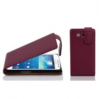 Cadorabo Hülle für Samsung Galaxy EXPRESS 2 in BORDEAUX LILA - Handyhülle im Flip Design aus strukturiertem Kunstleder - Case Cover Schutzhülle Etui Tasche Book Klapp Style
