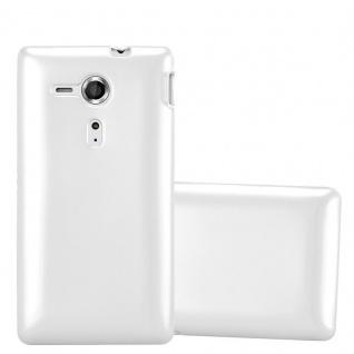 Cadorabo Hülle für Sony Xperia SP in METALLIC SILBER - Handyhülle aus flexiblem TPU Silikon - Silikonhülle Schutzhülle Ultra Slim Soft Back Cover Case Bumper