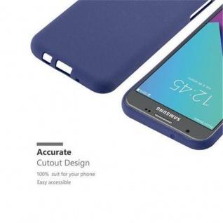 Cadorabo Hülle für Samsung Galaxy J3 2017 US Version in FROST DUNKEL BLAU - Handyhülle aus flexiblem TPU Silikon - Silikonhülle Schutzhülle Ultra Slim Soft Back Cover Case Bumper - Vorschau 3