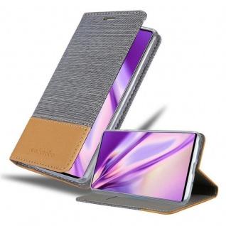 Cadorabo Hülle für Samsung Galaxy NOTE 10 in HELL GRAU BRAUN Handyhülle mit Magnetverschluss, Standfunktion und Kartenfach Case Cover Schutzhülle Etui Tasche Book Klapp Style