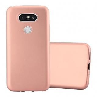 Cadorabo Hülle für LG G5 in METALLIC ROSE GOLD - Handyhülle aus flexiblem TPU Silikon - Silikonhülle Schutzhülle Ultra Slim Soft Back Cover Case Bumper
