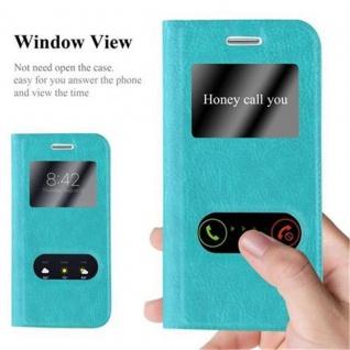 Cadorabo Hülle für Samsung Galaxy S3 MINI in MINT TÜRKIS - Handyhülle mit Magnetverschluss, Standfunktion und 2 Sichtfenstern - Case Cover Schutzhülle Etui Tasche Book Klapp Style - Vorschau 2