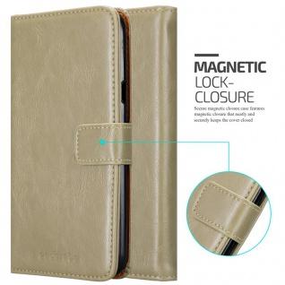 Cadorabo Hülle für LG X Power 2 in CAPPUCCINO BRAUN - Handyhülle mit Magnetverschluss, Standfunktion und Kartenfach - Case Cover Schutzhülle Etui Tasche Book Klapp Style - Vorschau 2