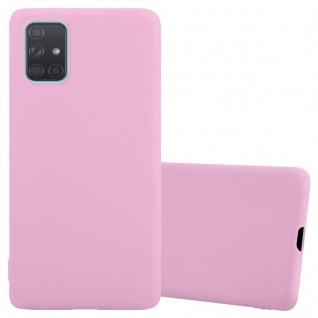 Cadorabo Hülle für Samsung Galaxy A71 5G in CANDY ROSA Handyhülle aus flexiblem TPU Silikon Silikonhülle Schutzhülle Ultra Slim Soft Back Cover Case Bumper