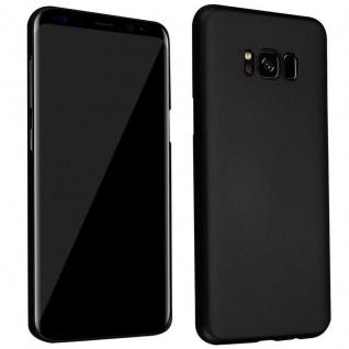 Cadorabo Hülle für Samsung Galaxy S8 PLUS in METALL SCHWARZ - Hardcase Handyhülle aus Plastik gegen Kratzer und Stöße - Schutzhülle Bumper Ultra Slim Back Case Hard Cover