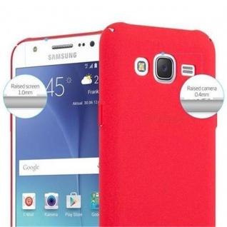 Cadorabo Hülle für Samsung Galaxy J5 2015 in FROSTY ROT - Hardcase Handyhülle aus Plastik gegen Kratzer und Stöße - Schutzhülle Bumper Ultra Slim Back Case Hard Cover - Vorschau 5