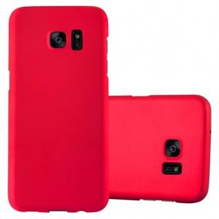 Cadorabo Hülle für Samsung Galaxy S7 EDGE in METALL ROT ? Hardcase Handyhülle aus Plastik gegen Kratzer und Stöße ? Schutzhülle Bumper Ultra Slim Back Case Hard Cover