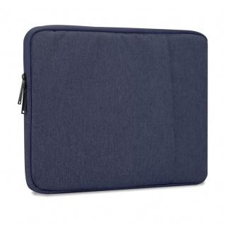 Cadorabo Laptop / Tablet Tasche 14'' Zoll in DUNKEL BLAU ? Notebook Computer Tasche aus Stoff mit Samt-Innenfutter und Fach mit Anti-Kratz Reißverschluss ? Schutzhülle Sleeve Case