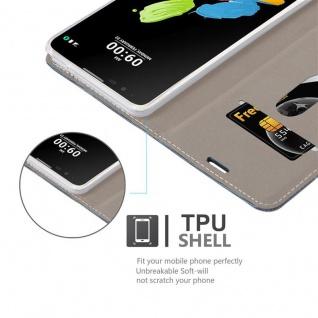 Cadorabo Hülle für LG STYLUS 2 in DUNKEL BLAU SCHWARZ - Handyhülle mit Magnetverschluss, Standfunktion und Kartenfach - Case Cover Schutzhülle Etui Tasche Book Klapp Style - Vorschau 2
