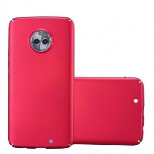 Cadorabo Hülle für Motorola MOTO X4 in METALL ROT - Hardcase Handyhülle aus Plastik gegen Kratzer und Stöße - Schutzhülle Bumper Ultra Slim Back Case Hard Cover
