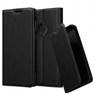 Cadorabo Hülle für Xiaomi Mi A2 LITE / RedMi 6 PRO in NACHT SCHWARZ - Handyhülle mit Magnetverschluss, Standfunktion und Kartenfach - Case Cover Schutzhülle Etui Tasche Book Klapp Style