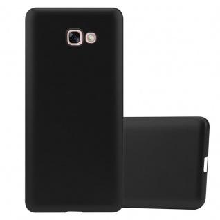 Cadorabo Hülle für Samsung Galaxy A7 2017 in METALLIC SCHWARZ - Handyhülle aus flexiblem TPU Silikon - Silikonhülle Schutzhülle Ultra Slim Soft Back Cover Case Bumper