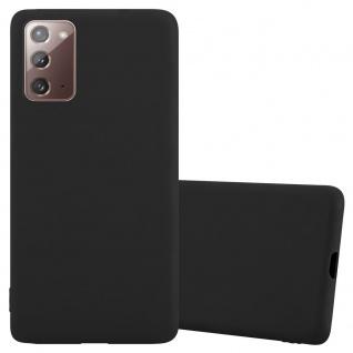 Cadorabo Hülle für Samsung Galaxy NOTE 20 in CANDY SCHWARZ Handyhülle aus flexiblem TPU Silikon Silikonhülle Schutzhülle Ultra Slim Soft Back Cover Case Bumper