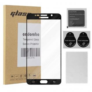 Cadorabo Vollbild Panzer Folie für Samsung Galaxy NOTE 5 - Schutzfolie in TRANSPARENT mit SCHWARZ - Gehärtetes (Tempered) Display-Schutzglas in 9H Härte mit 3D Touch Kompatibilität