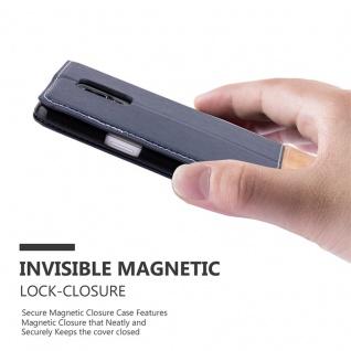 Cadorabo Hülle für Samsung Galaxy NOTE 4 in BLAU BRAUN ? Handyhülle mit Magnetverschluss, Standfunktion und Kartenfach ? Case Cover Schutzhülle Etui Tasche Book Klapp Style - Vorschau 4