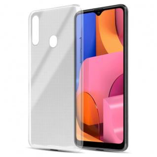 Cadorabo Hülle kompatibel mit Samsung Galaxy A20s in VOLL TRANSPARENT Handyhülle aus flexiblem TPU Silikon Silikonhülle Schutzhülle Ultra Slim Soft Back Cover Case Bumper